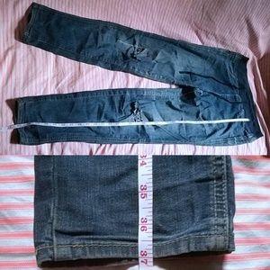 Uniqlo Drawstring Distressed Boyfriend Jeans
